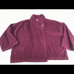Bryn Walker Swing Jacket Small S Burgundy Corduroy